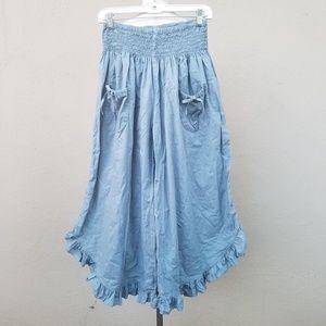 Wild woman French blue pants